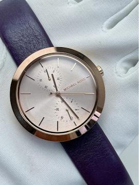 T366 美品★ マイケルコース クォーツ 腕時計 本革ベルト