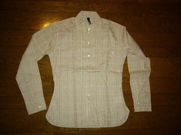 新品SILASサイラス薄手チェックシャツSギンガム長袖