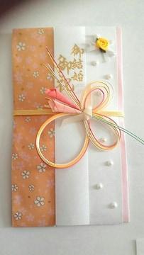 Q.送込(^O^)新品☆ハンドメイド♪「御結婚 御祝」のし袋