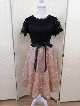 Mサイズ 花柄レース ドレス ゆうパック