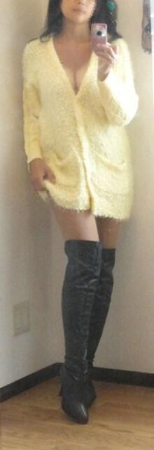 美品◆RCWB ニットロングカーディガン オーバーサイズS < 女性ファッションの