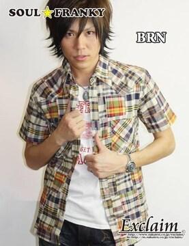 SOUL☆FRANKY 梅しゃん私物 パッチワークシャツ/M