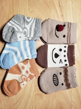 新生児用★靴下★6足set★まとめて★7〜9�a★ベビーソックス
