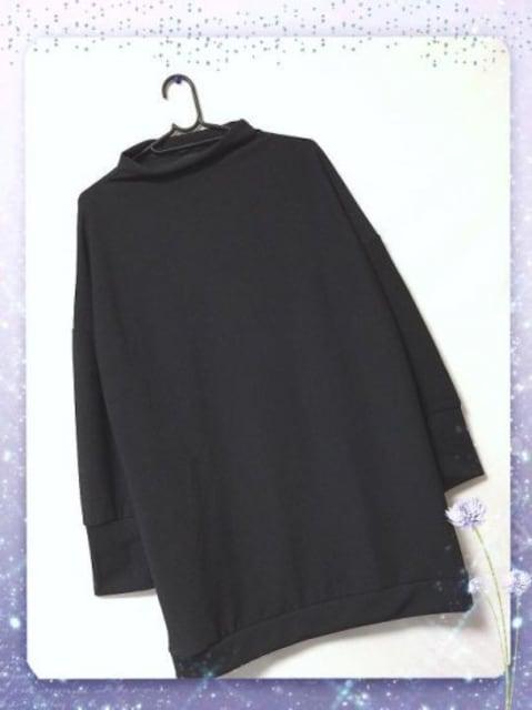 新品☆シンプル♪ゆるワンピース ブラック L < 女性ファッションの