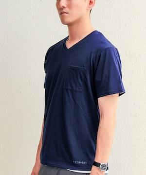 ☆チャオパニック TECH+DRY Vネック Tシャツ/メンズ/S/ネイビー☆新品