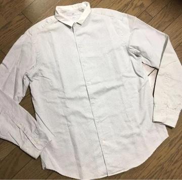 美品 SHIPS ドット柄 シャツ 日本製 ビックサイズ シップス