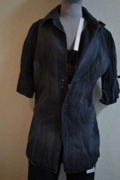 新品 Art 5分袖デニムシャツ LGB