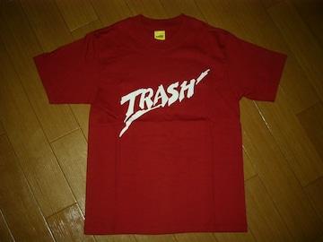 新品WTAPSダブルタップスTシャツS赤TRASH
