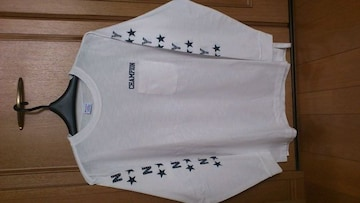 激安53%オフアメカジ、シュプーム、チャンピオン、長袖Tシャツ(新品タグ、白、L)