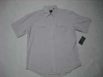 33 男 TIMBERLAND ティンバーランド 半袖 麻シャツ Mサイズ
