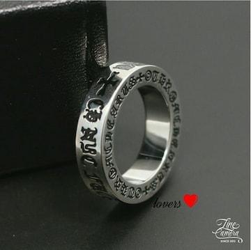 送料無料24号クロムシルバーファックユースペーサーリング指輪
