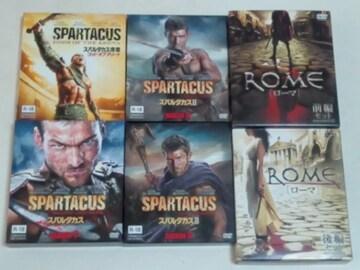 DVD[海外ドラマ/完結] スパルタカス オマケ ROME/ローマ コンパクトBOX