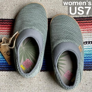 フリーウォータース☆スリッパサンダル【womens US7】セージ