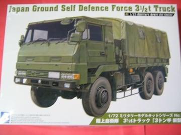 アオシマ 1/72 ミニタリーモデル No.01 陸上自衛隊 3 1/2tトラック 「3トン半新型」