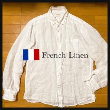 backnumber フレンチリネン フランス リネン 麻  長袖 白シャツ
