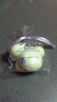 ディズニー ミッキー型 石鹸 ハッピーソープ フレッシュハーブの香り Dz21