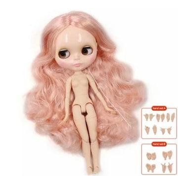 icyドール ツヤ肌 ハンドパーツセット 前髪なし ピンク