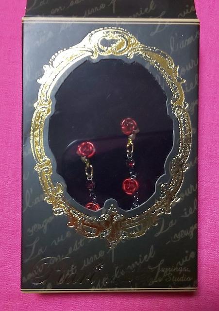 京都ガラス館ぴありローズレッド赤ブラックシルバークロスゴスロリPIARI < 女性アクセサリー/時計の