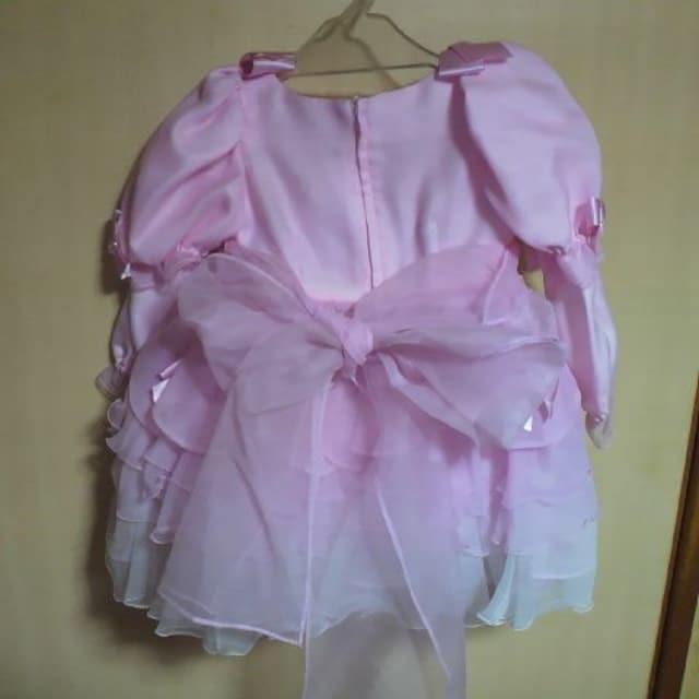 キッズ2Wayピンク フリル ドレス 3才用 七五三・お祝い等に < キッズ/ベビーの