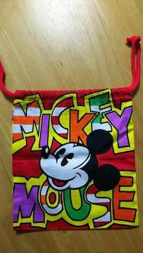 Disney ディズニー Mickey Mouse ミッキーマウス 巾着袋 小物入れ お弁当袋