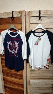 ロデオクラウンズ/RODEO CROWNS 7分-8分袖 Tシャツ 2枚セット
