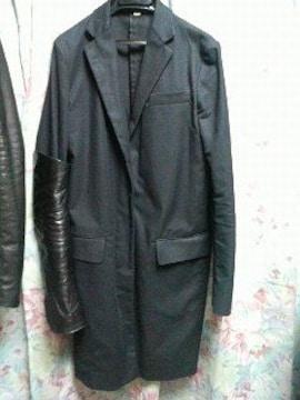 ヘルムートラングジャケットコートレザーhelmutlangブラック40