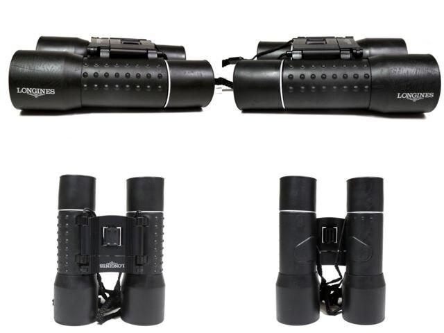 正規ロンジン双眼鏡オペラグラス望遠鏡ブラック黒ノベ < ブランドの