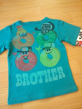 中古パイン兄弟ロングTシャツ120青緑ジャムJAM
