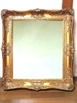 高級 アンティーク ミラー 鏡 豪華 額縁 クラッシック ゴールド