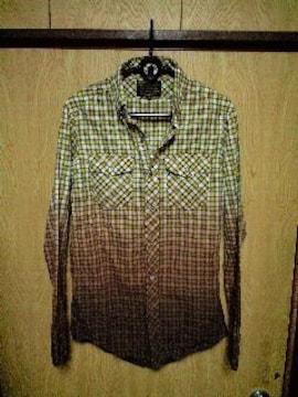 IZREELイズリール グラデーションチェックシャツ 44