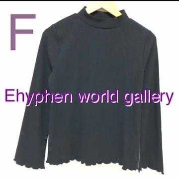 #リブカットソーEhyphen world gallery ブラック
