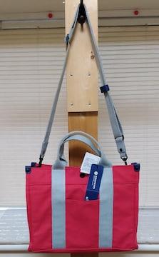 新品 / シュールなムスタッシュ の トート&ショルダー バッグ !
