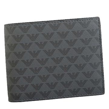 ★エンポリオアルマーニ 2つ折財布(BK)『Y4R065 YG91J』★新品本物★