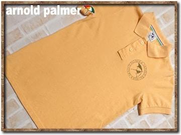 アーノルドパーマー プリント入り半袖ポロシャツ 黄