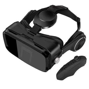 vrゴーグル iphone 目幅・視界距離調整 イヤホン実装ブラック
