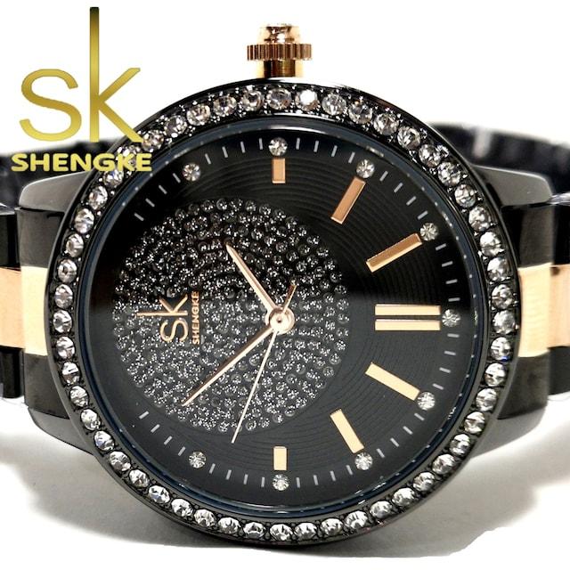 新品・未使用【専用箱付】SK【ジルコニア】美しい輝き放つ 腕時計 < 女性アクセサリー/時計の