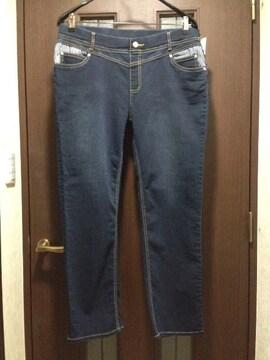新品4L★しまむら★/デニムパンツ/大きいサイズ/ウエストゴム