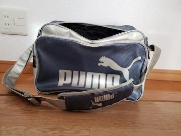 PUMA プーマ エナメル バッグ シルバー