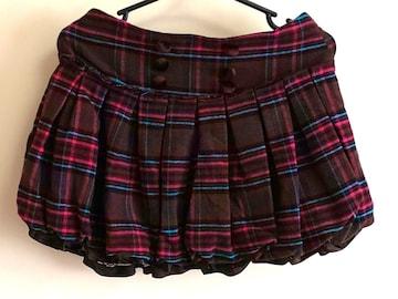 ☆ブラウンのチェック バルーンスカート