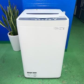 ◆SHARP◆全自動洗濯機 2020年 6kg 美品 大阪市近郊配送無料