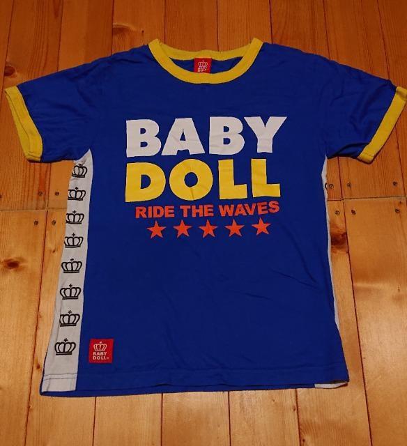 男女ok★BABYDOOL/ベビードール★王冠×ロゴ★スポーティ半袖Teeシャツ★S  < ブランドの
