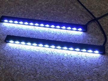 細型15連LEDデイライト ブルーランプ   デコレイトランプ 6w