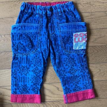 模様ありジーンズ半ズボン110cm