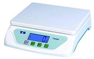 色ホワイト 家庭用デジタルスケール 1g~25kg計量可能 デジタル台