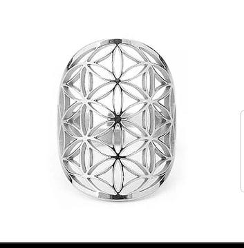 神聖幾何学模様フラワーオブライフリング
