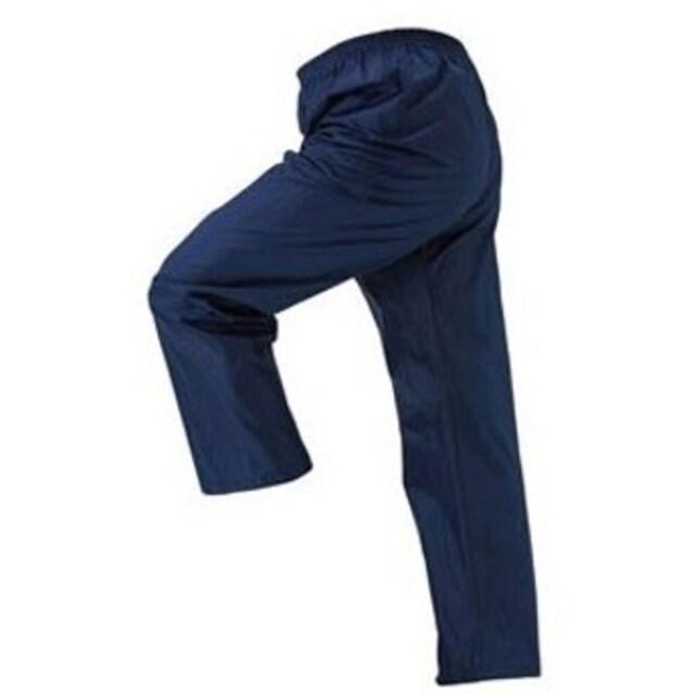 撥水加工●ポケット付き!ポリパンツ●M男女兼用●ネイビー紺 < 男性ファッションの