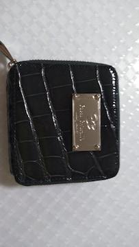 クロコダイルのラウンドファスナー折り財布新品