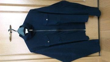 訳あり激安82%オフアニエスb、長袖シャツ(美品、紺、フランス製、M〜L)