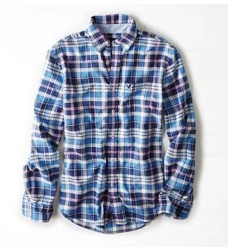 【American Eagle】Vintage AEOマドラスチェックシャツ  XXL/Blue
