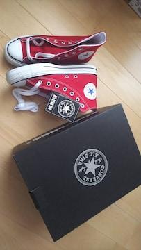 新品★CONVERSEスニーカー24cm赤
